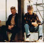 Jim MacNabb and Brenton Clow, two retired fishermen at Tracadie harbour.