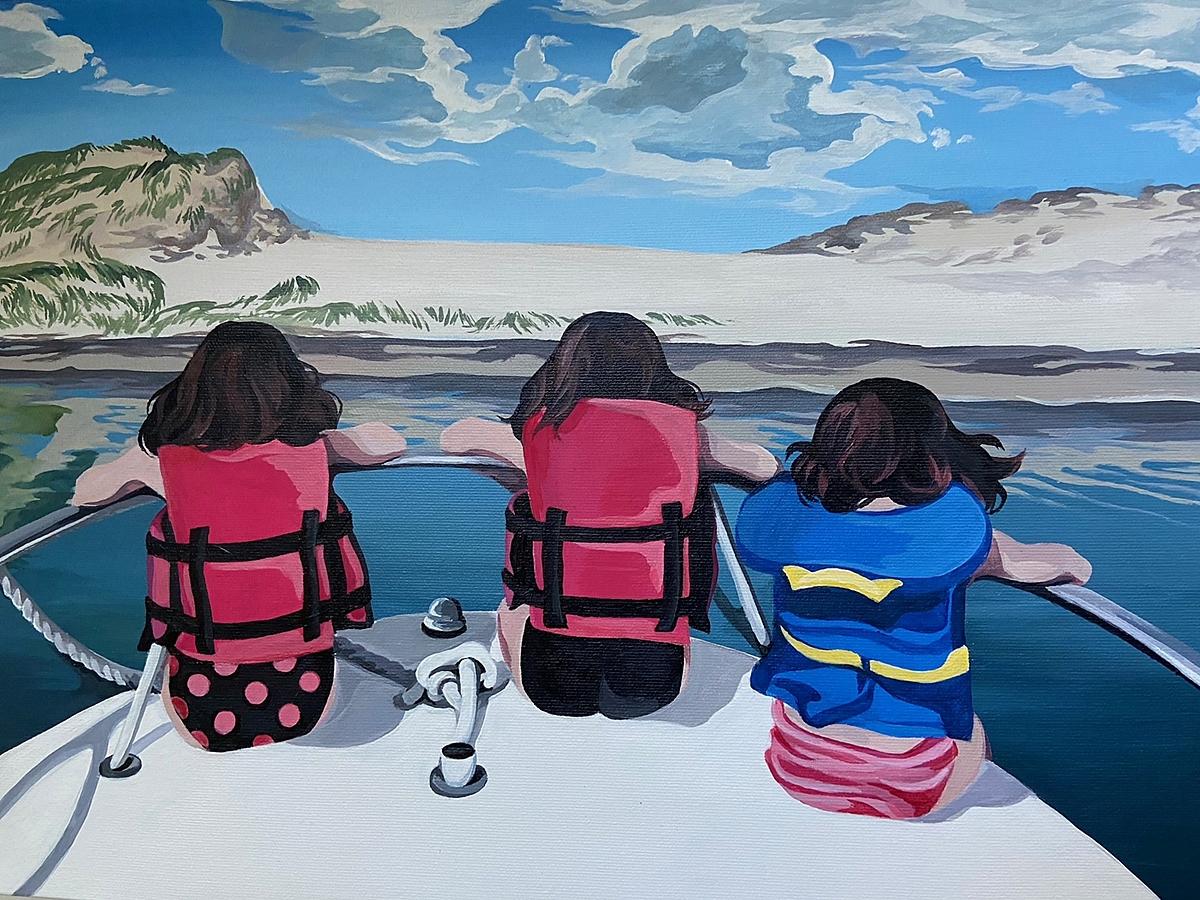 The Jenkin's girls - Artist Olivia Southcott, Halifax - @livsouthcott on Instagram
